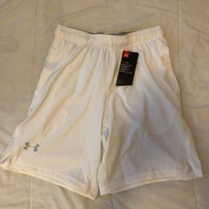 White Under Armour athletic shorts